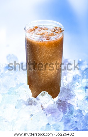 Coffee smoothie on the rocks