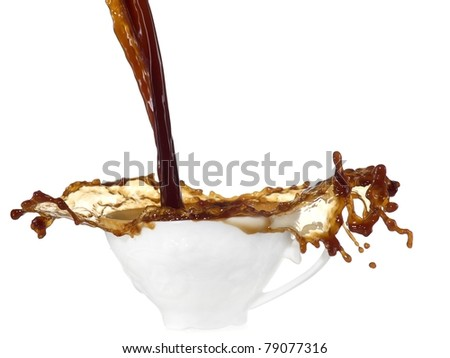 Coffee splash in a cup