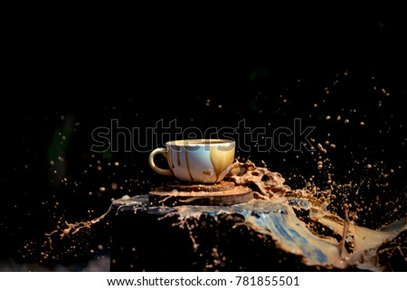 coffee splash out of the cup