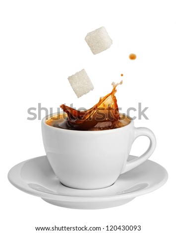 coffee splashing sugar