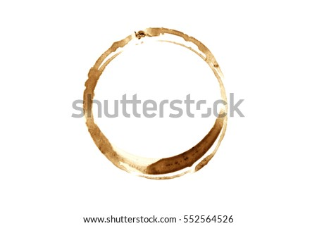 Coffee Stain - Isolated Photo. #552564526