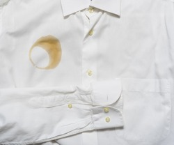 coffee stain on a shirt