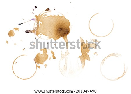 Coffee stains and splatters design pack - stock photo
