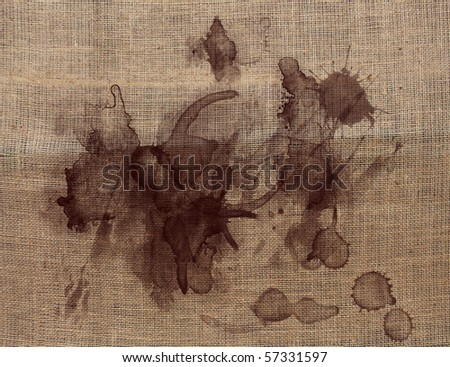 COFFEE STAINS ON THE FABRIC