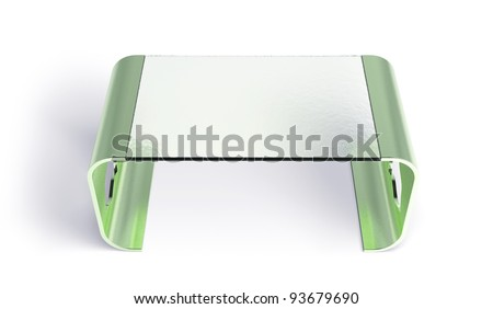 Coffee table isolated 3d model