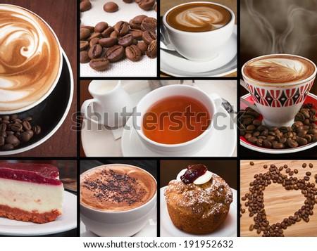 Coffee, tea, hot chocolate