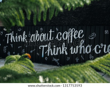 coffee typography inspiration #1317753593