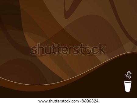 coffee wave background ideal for menus - landscape version
