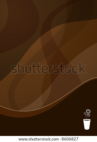 coffee wave background ideal for menus - portrait version