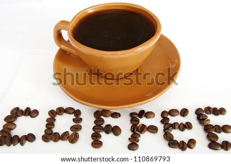Coffee - white background