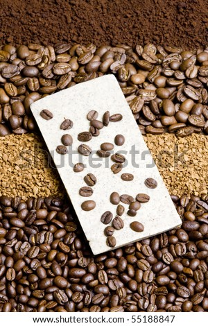 coffee with coffee chocolate - stock photo