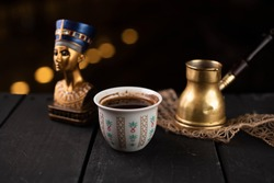coffee with egyptian style accessories shot in jordan 13-4-2019