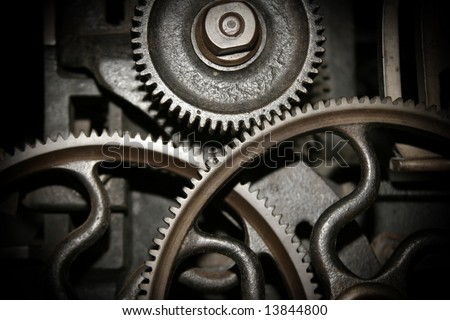 Cog and wheel details from machines of the industrial revolution