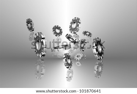cog in abstract background