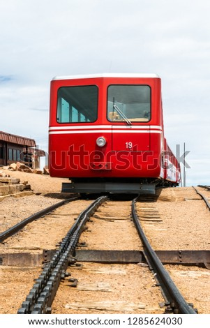 Cog Train at Pikes Peak in Pike National Forest, Colorado #1285624030