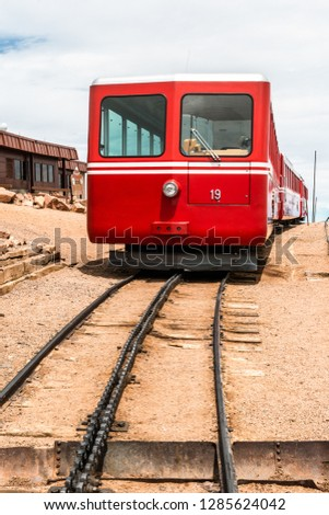 Cog Train at Pikes Peak in Pike National Forest, Colorado #1285624042