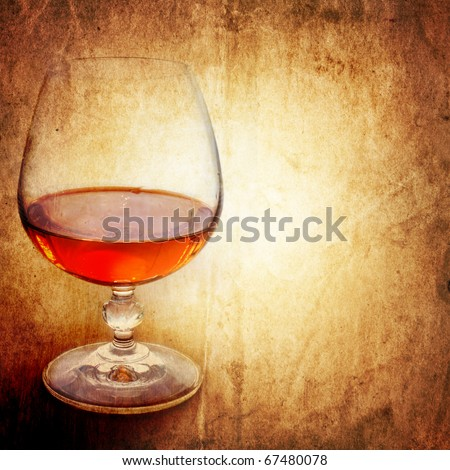 Cognac on an ancient background