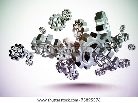 Cogwheel - stock photo