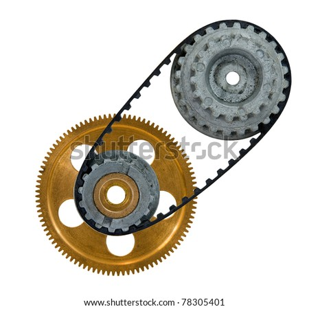cogwheel with gear on a white background