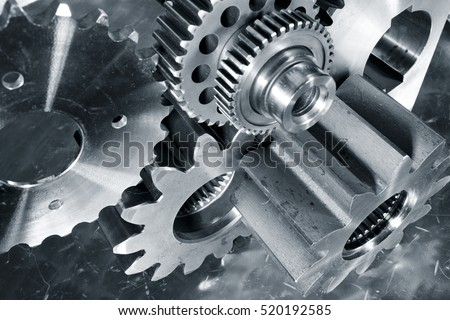 cogwheels and gears of titanium and steel for the aerospace industry