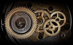 cogwheels in old clock