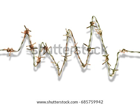 Coil barbed wire