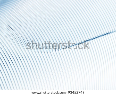 Coil of nylon cord for background