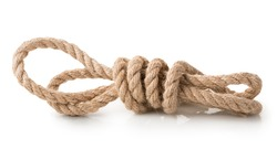 Coil of rope isolated on a white background