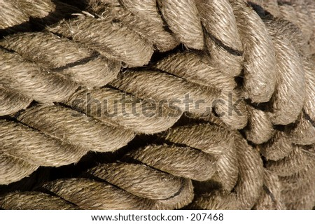 Coil of rope on a ship