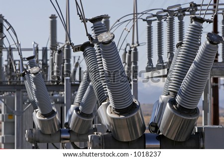 Coils and equipment at an Electric  Power Plant.