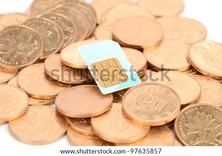 Coin and sim card