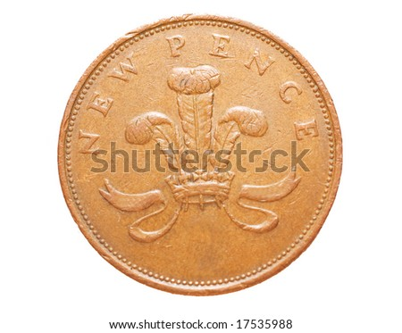 Coin isolated on white