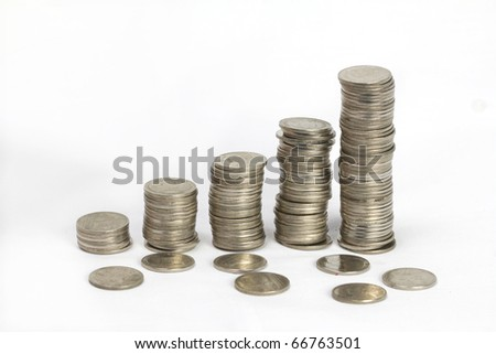 coin money background / money stack / thai bath