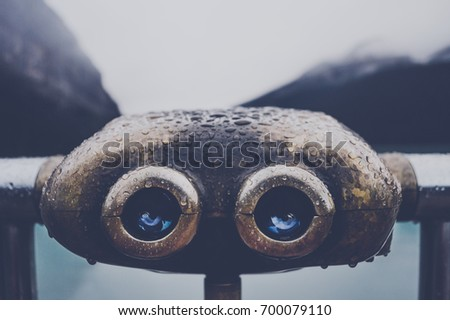 coin operated binocular for...