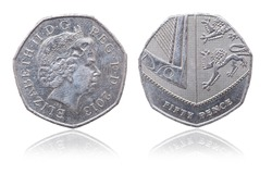 Coin 5 pence. Great Britain. 2013