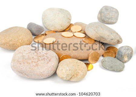 Coin with stone