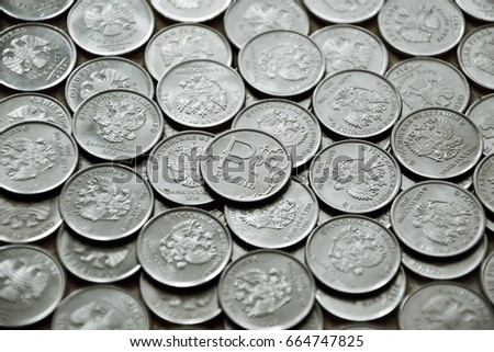 Two Rubles Coins Pattern On White Background Ez Canvas