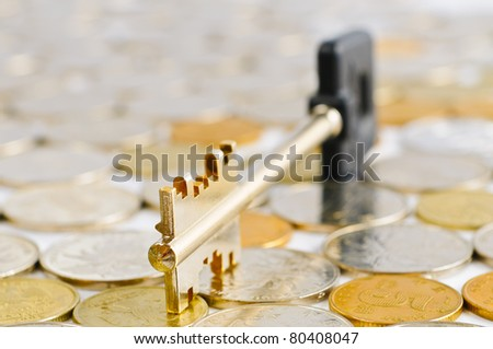 Coins and a key