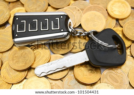 Coins and a key from the car.