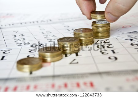coins calendar money