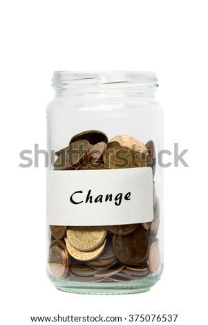 Coins jar change
