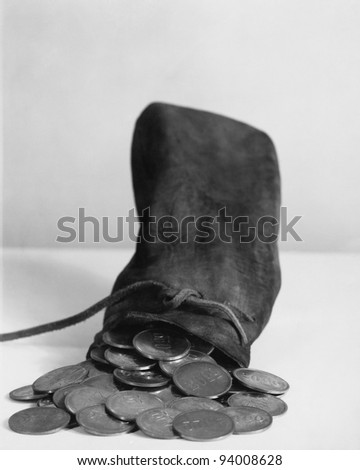 COINS OF THE REALM - stock photo