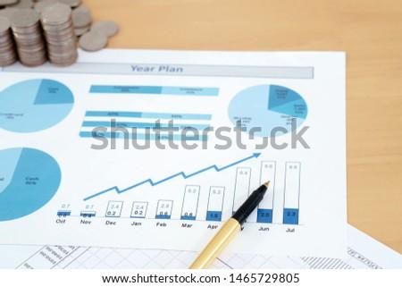 Coins, Savings, Chart Analyze Concept