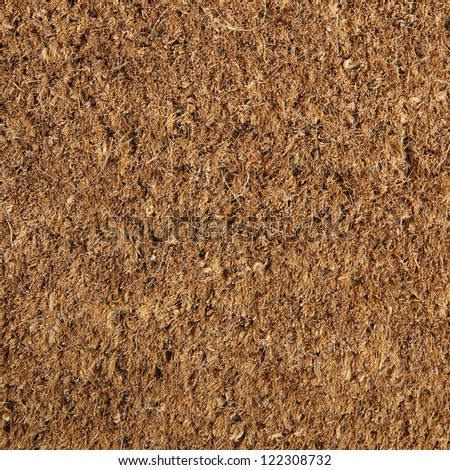 Coir natural fiber doormat.