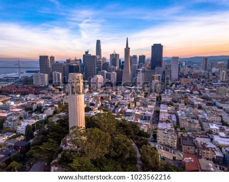 Coit Tower & Downtown San Francisco