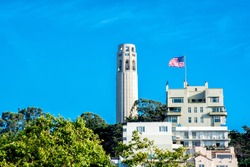 Coit Tower, San Francisco California - View from Pier 39
