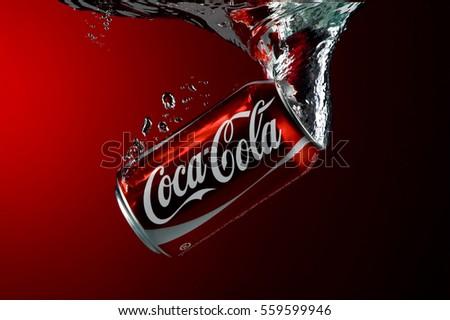 Coke. Illustrative Editorial
