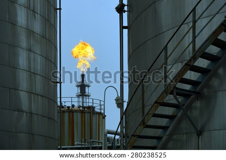 Coking plant combustion gas