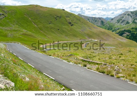 Col de la Bonette is a high mountain pass in the French Alps, near the border with Italy. It is situated within the Mercantour National Park on the border of the departments of Alpes-Maritimes and Alp #1108660751