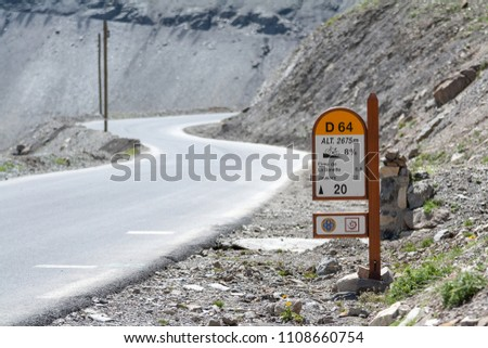 Col de la Bonette is a high mountain pass in the French Alps, near the border with Italy. It is situated within the Mercantour National Park on the border of the departments of Alpes-Maritimes and Alp #1108660754